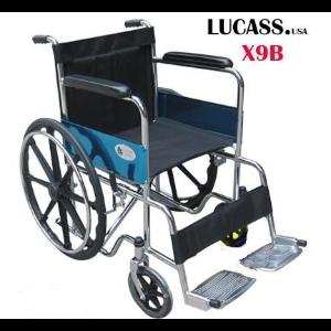 Xe Lăn Mạ Crom Bánh Đúc Lucass X-9B